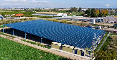 instalación fotovoltaica sobre cubierta almoradi